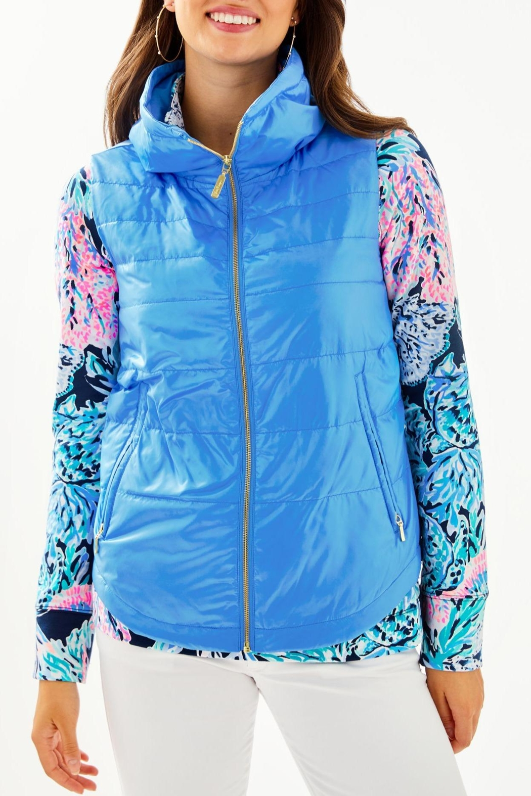 Lilly Pulitzer Palm Paradise Puffer-Vest - Main Image