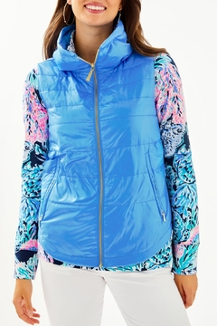 Lilly Pulitzer Palm Paradise Puffer-Vest - Product List Image