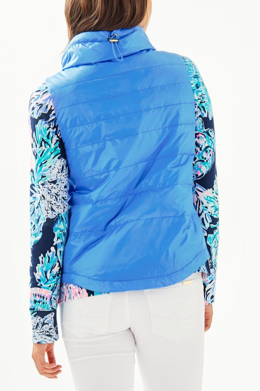 Lilly Pulitzer Palm Paradise Puffer-Vest - Front Full Image