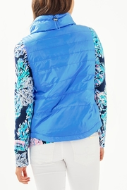 Lilly Pulitzer Palm Paradise Puffer-Vest - Front full body