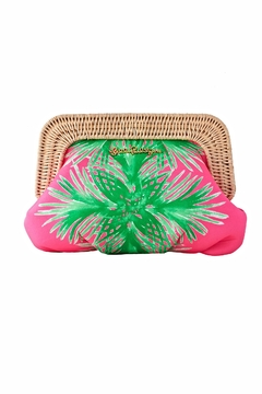 Lilly Pulitzer Pink and Green Clutch - Alternate List Image