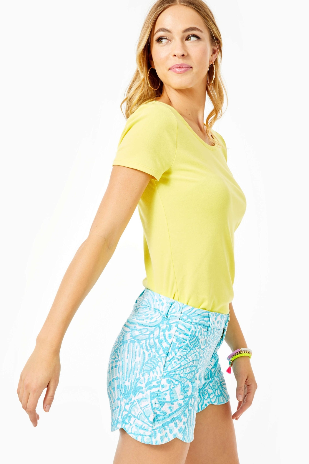 Lilly Pulitzer Palmita Stretch Short - Side Cropped Image