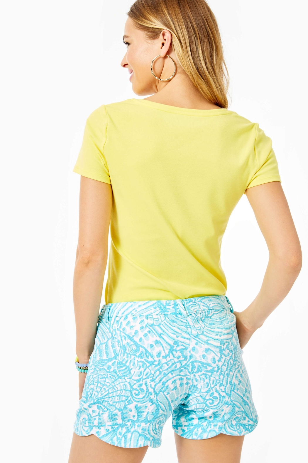 Lilly Pulitzer Palmita Stretch Short - Front Full Image
