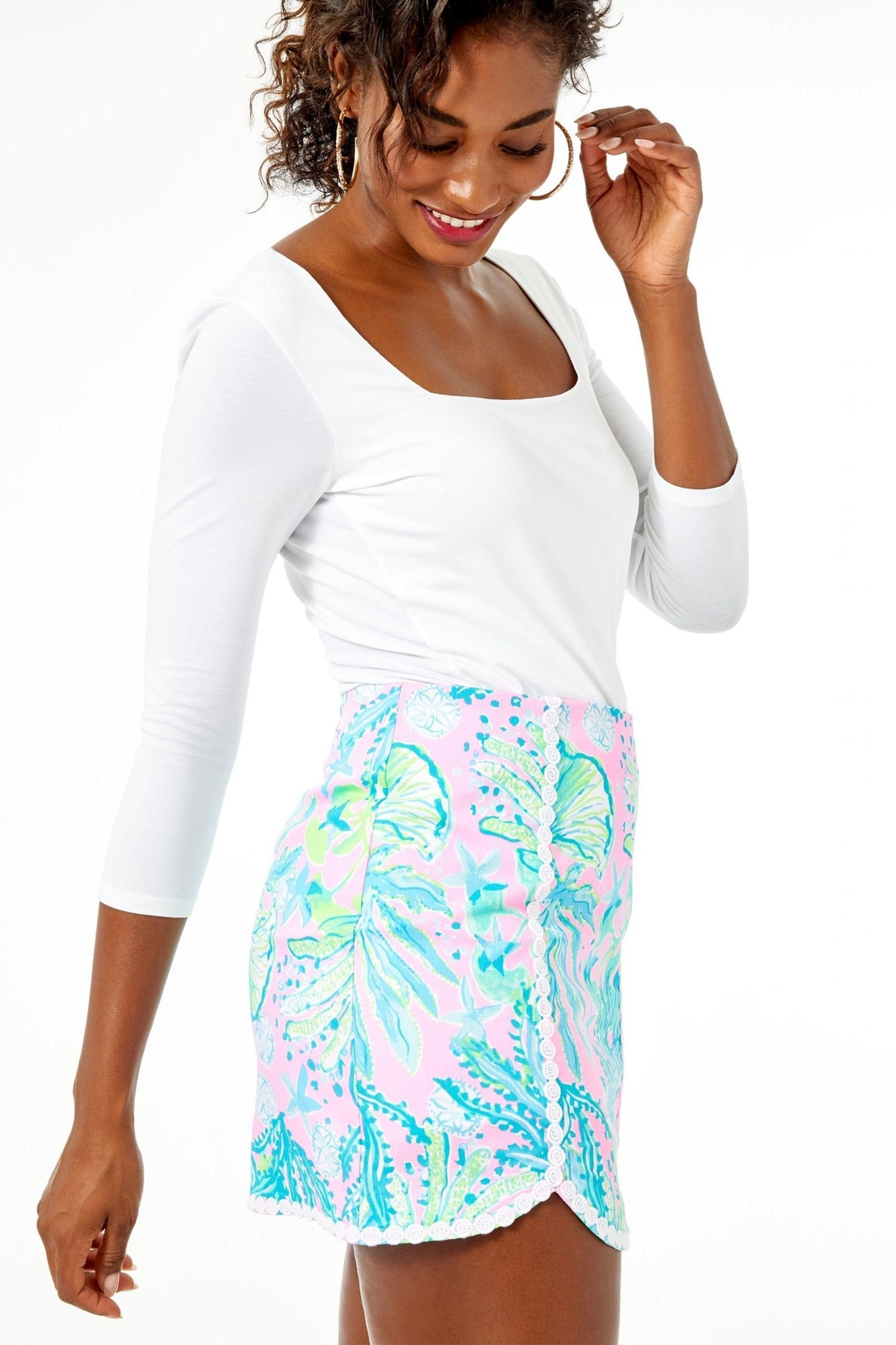 Lilly Pulitzer Patty Skort - Side Cropped Image