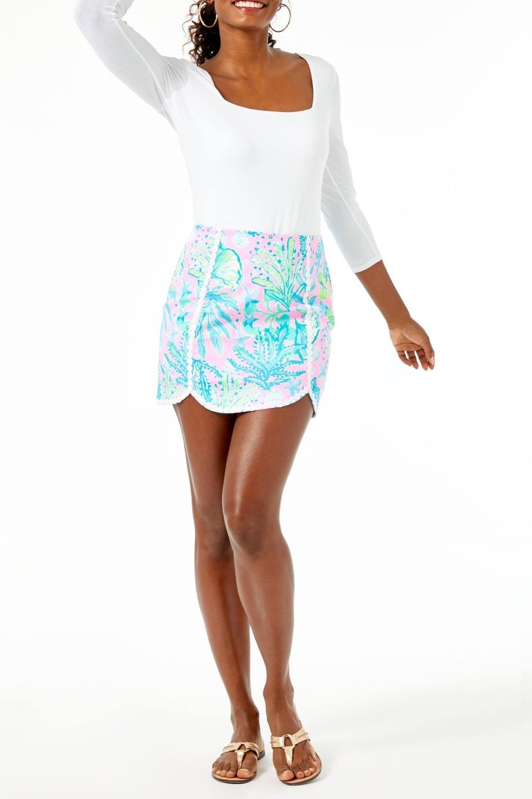 Lilly Pulitzer Patty Skort - Back Cropped Image