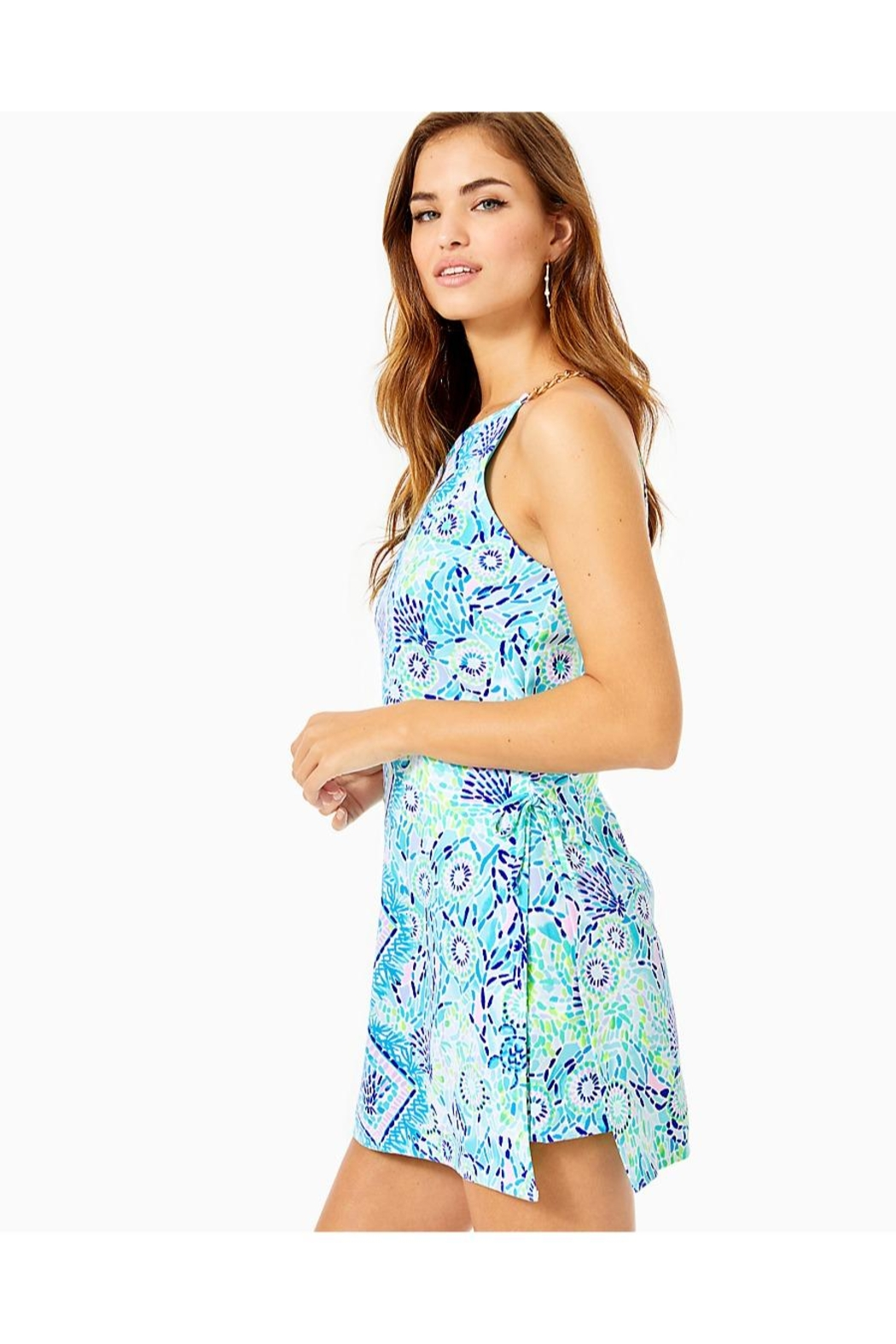 Lilly Pulitzer Pearl Romper - Side Cropped Image