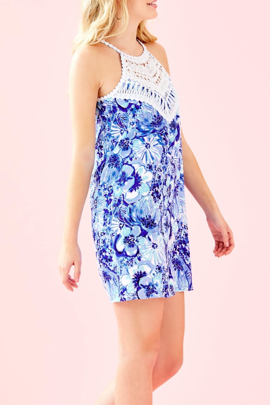 Lilly Pulitzer Pearl Shift Dress - Side Cropped Image
