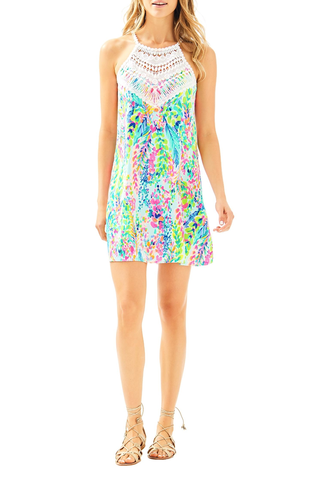 Lilly Pulitzer Pearl Shift Dress - Back Cropped Image