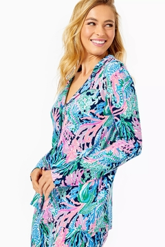 Lilly Pulitzer Pj Knit-Button-Up Top - Product List Image