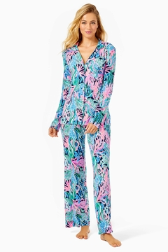 Lilly Pulitzer Pj Knit-Button-Up Top - Alternate List Image