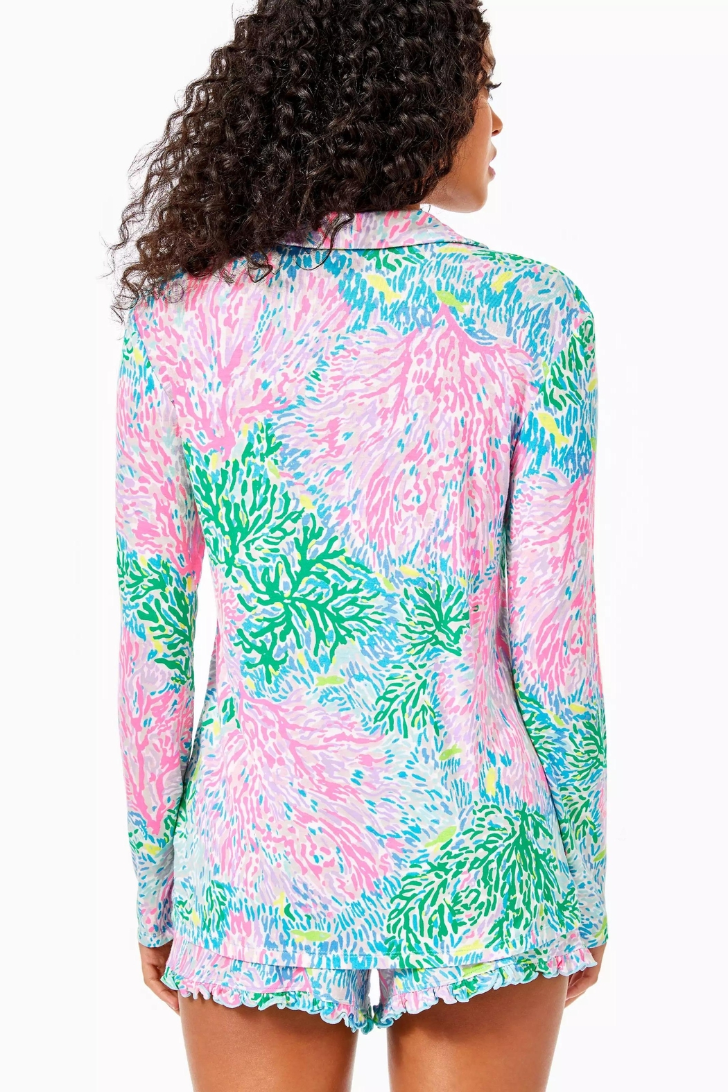 Lilly Pulitzer Pj Knit-Button-Up Top - Front Full Image