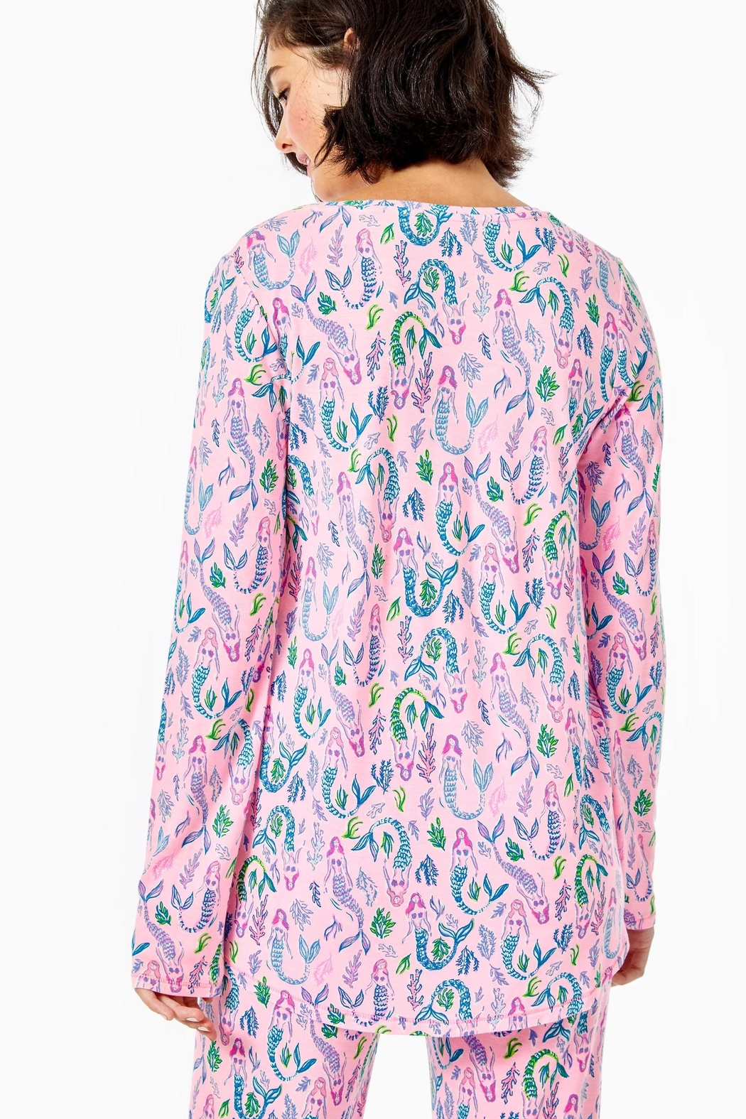 Lilly Pulitzer Pj Knit-Long-Sleeve Top - Front Full Image