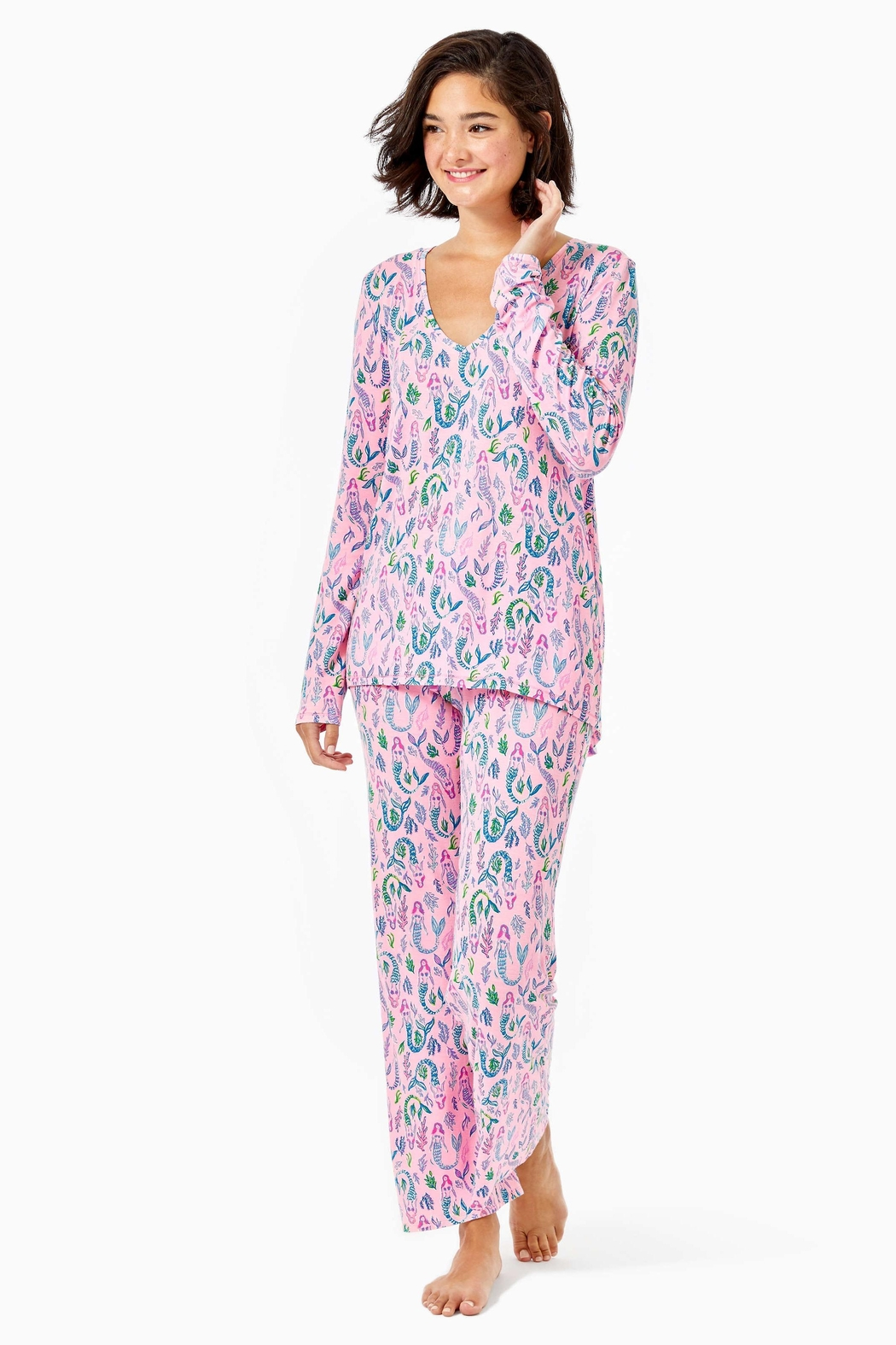 Lilly Pulitzer Pj Knit-Long-Sleeve Top - Side Cropped Image