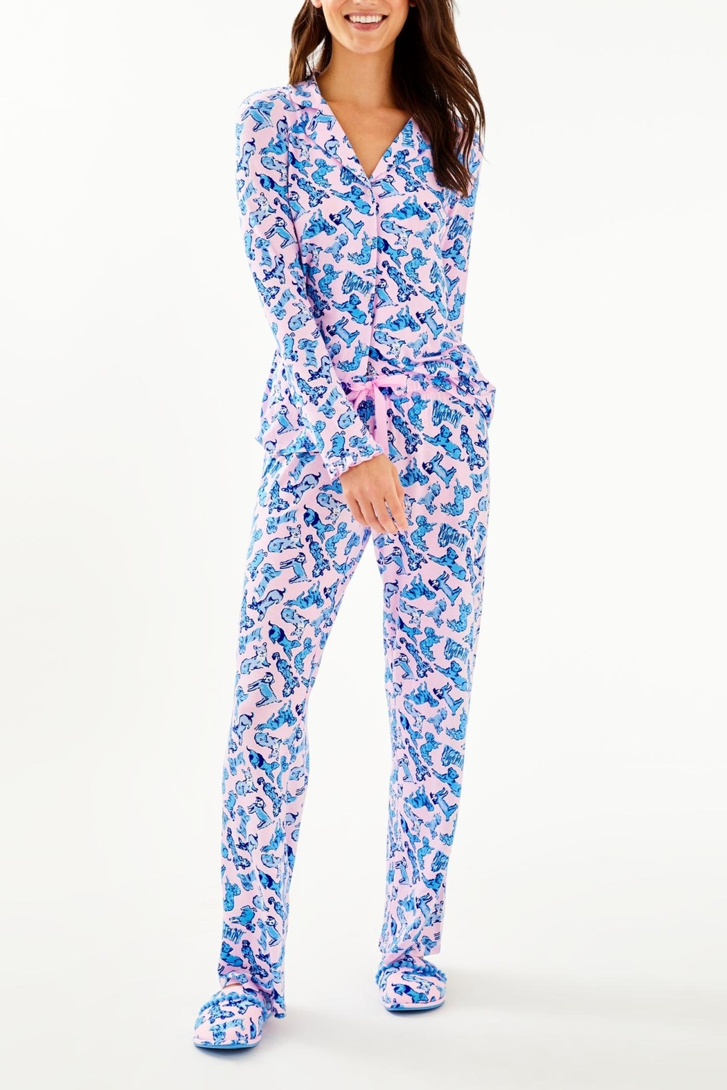 Lilly Pulitzer Pj Knit Pant - Back Cropped Image
