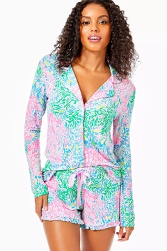 Lilly Pulitzer Pj Knit-Ruffle Short - Product List Image