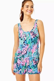 Lilly Pulitzer Pj Knit-Ruffle Tank-Top - Front cropped