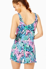 Lilly Pulitzer Pj Knit-Ruffle Tank-Top - Front full body