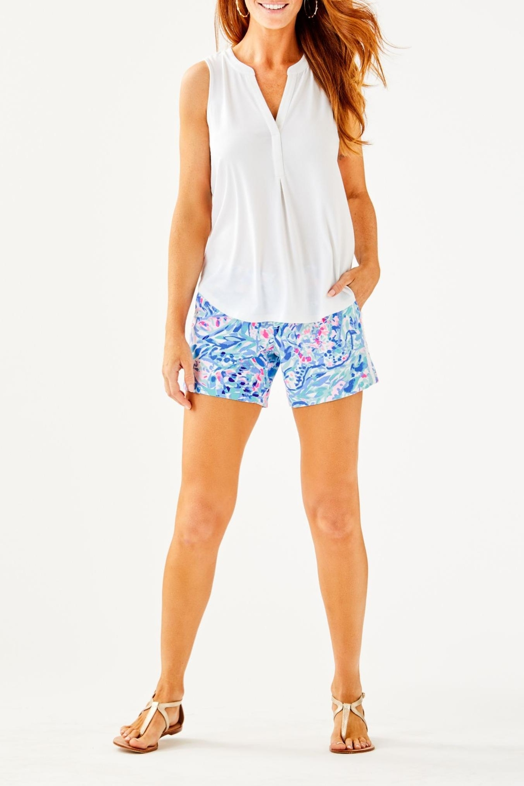 Lilly Pulitzer Raisa Top - Side Cropped Image