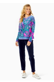 Lilly Pulitzer Rami Velour Sweatshirt - Side cropped