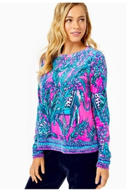 Lilly Pulitzer Rami Velour Sweatshirt - Front cropped