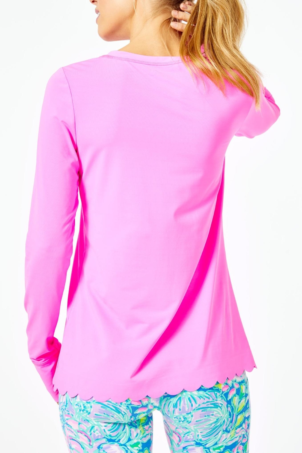 Lilly Pulitzer Luxletic Renay Scallop-Sunguard - Front Full Image