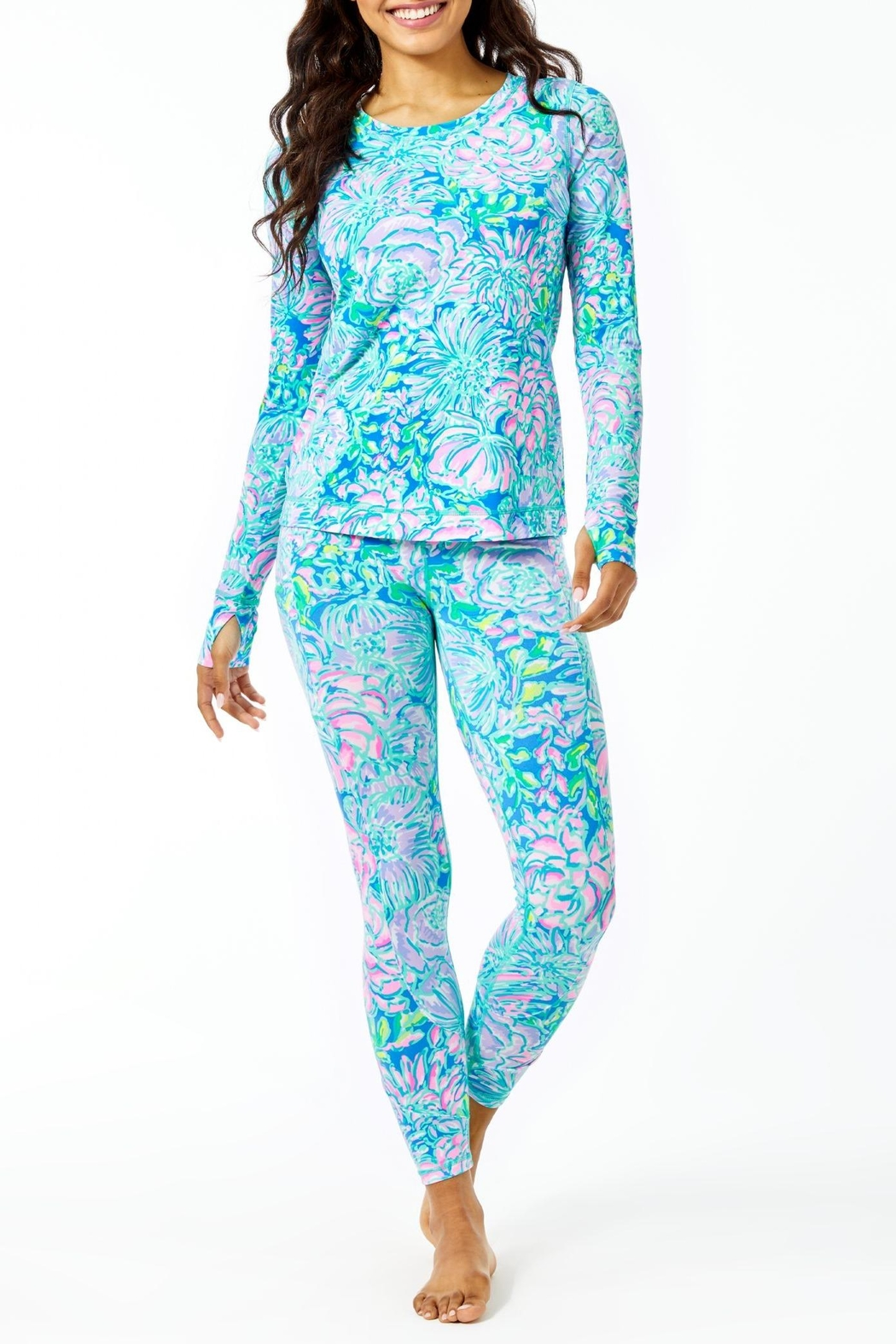 Lilly Pulitzer Luxletic Renay Sunguard - Back Cropped Image