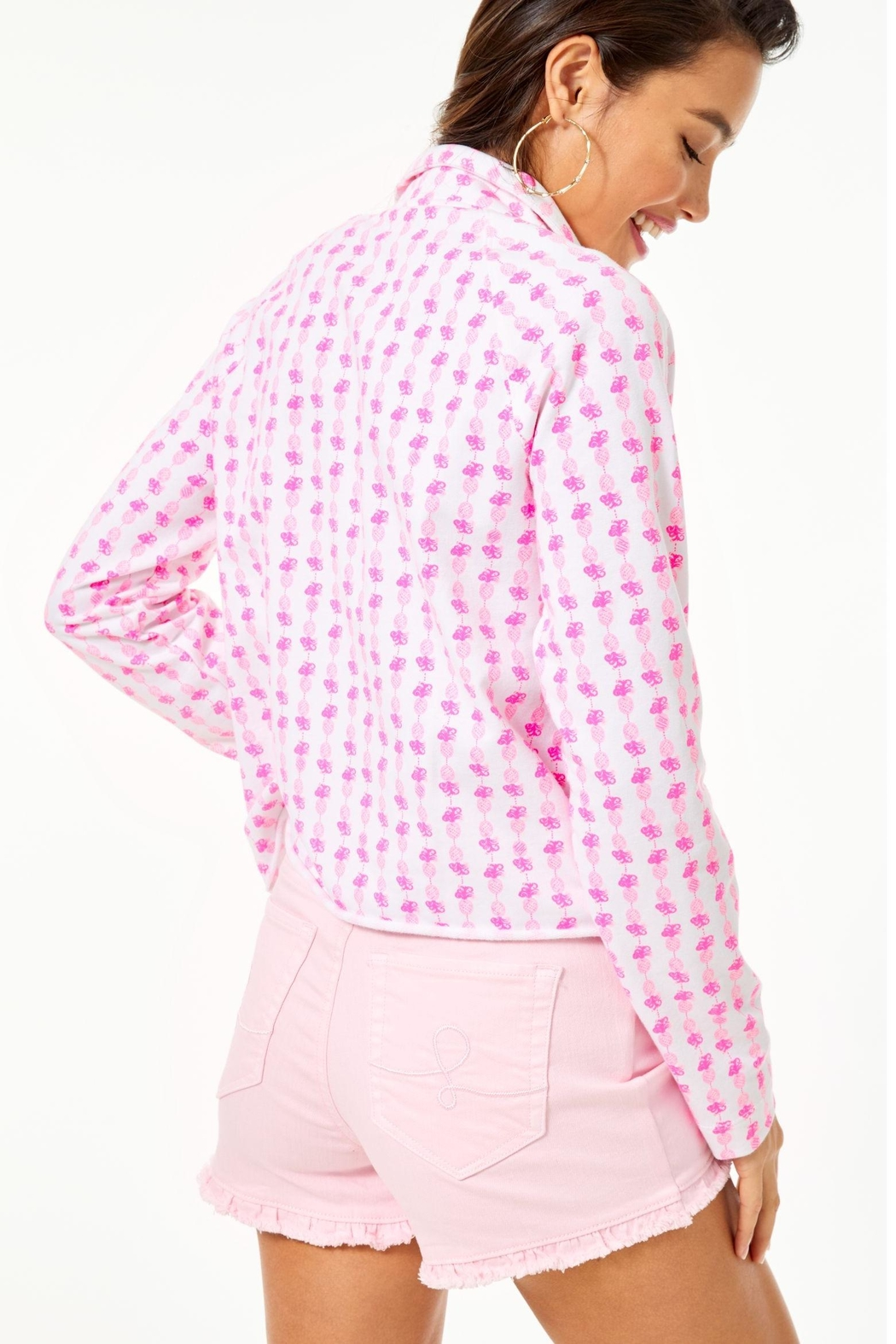 Lilly Pulitzer Ronan Cropped Popover - Front Full Image