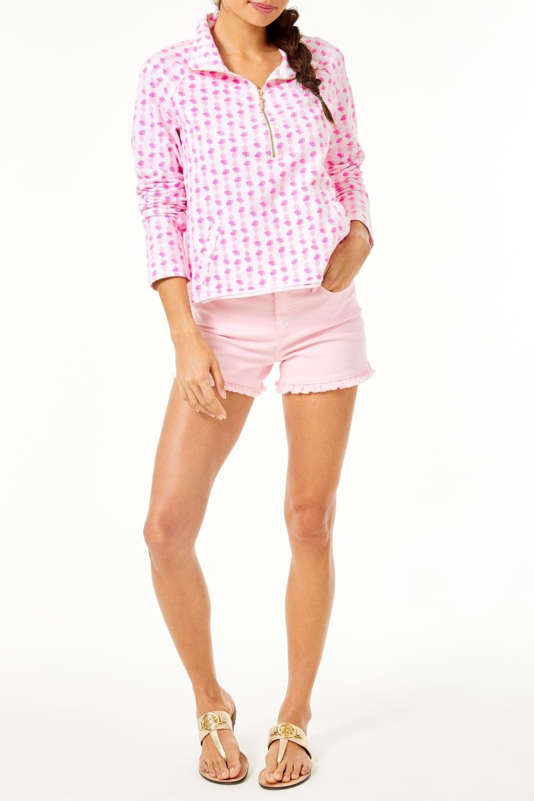 Lilly Pulitzer Ronan Cropped Popover - Side Cropped Image