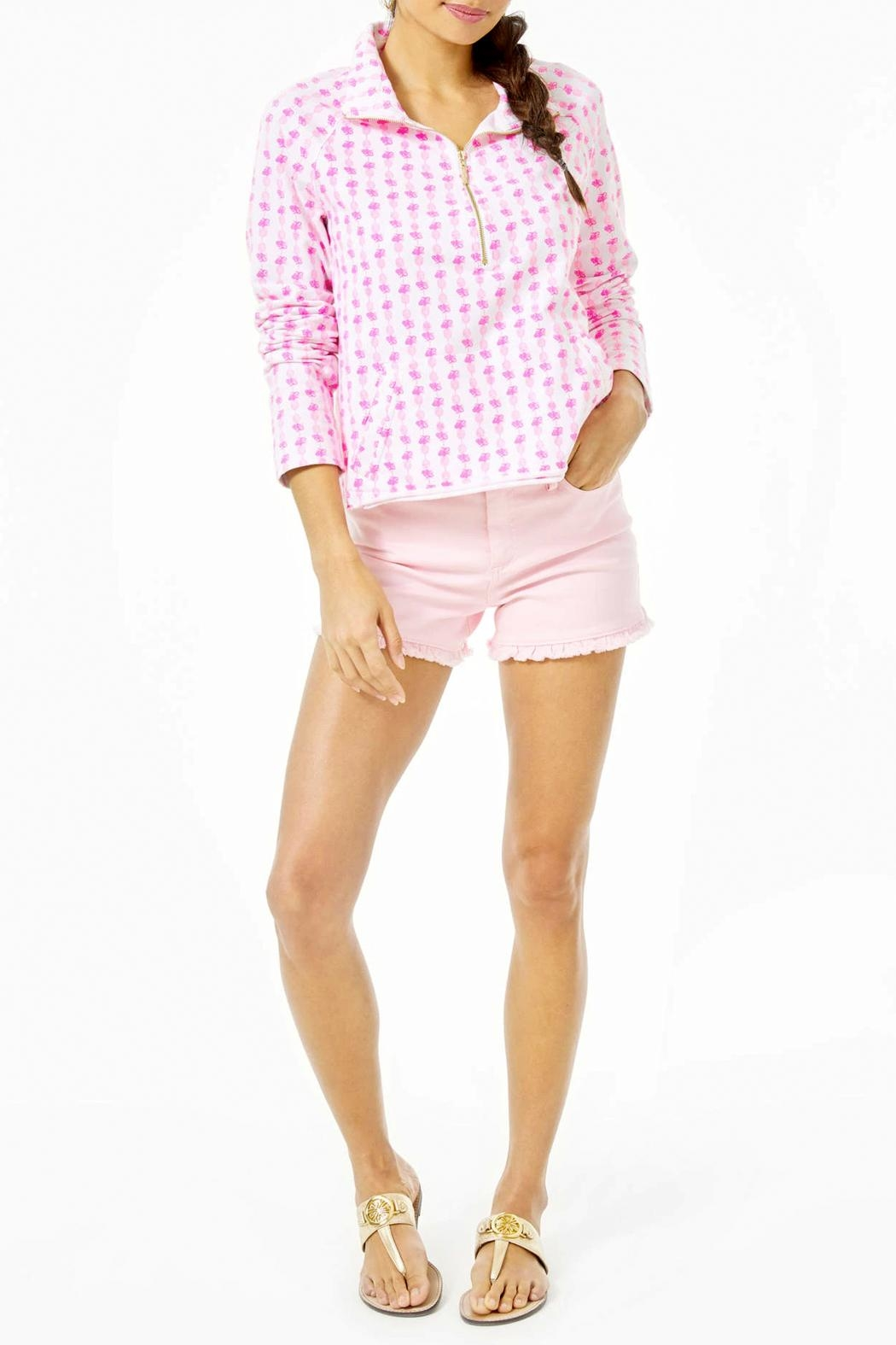 Lilly Pulitzer Ronan Cropped-Popover Upf-50+ - Side Cropped Image