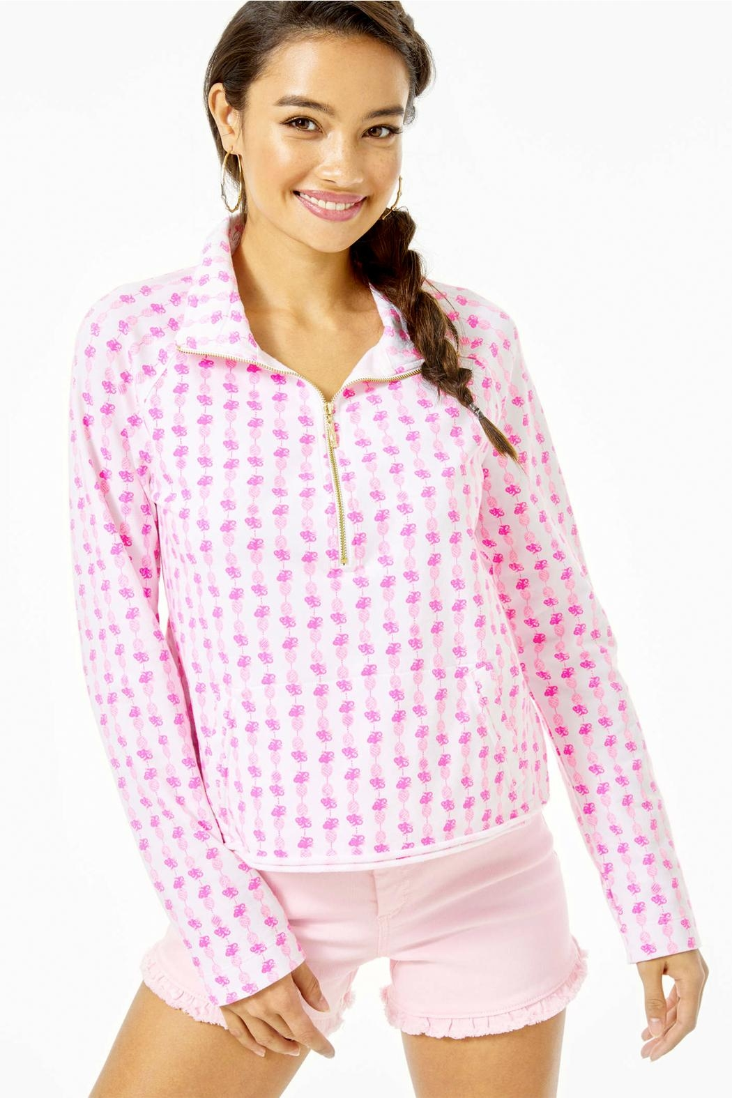 Lilly Pulitzer Ronan Cropped-Popover Upf-50+ - Main Image
