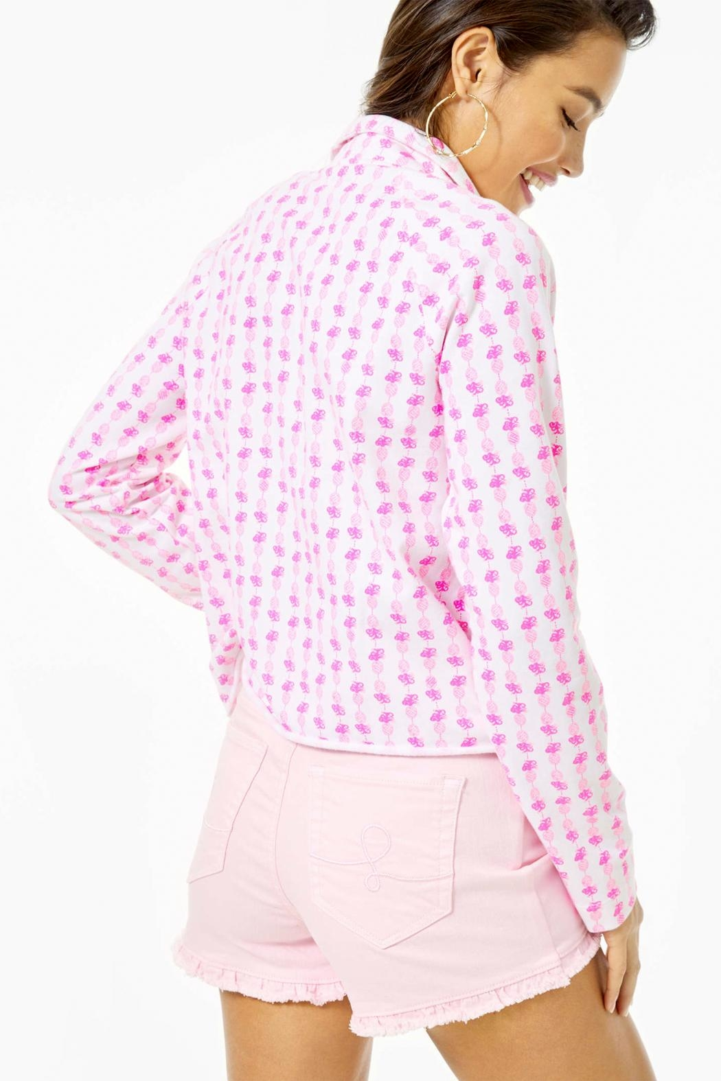 Lilly Pulitzer Ronan Cropped-Popover Upf-50+ - Front Full Image