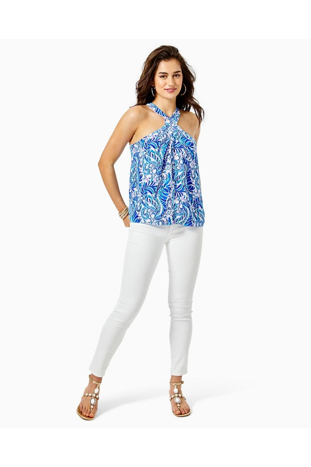 Lilly Pulitzer Rori Halter Top - Side Cropped Image