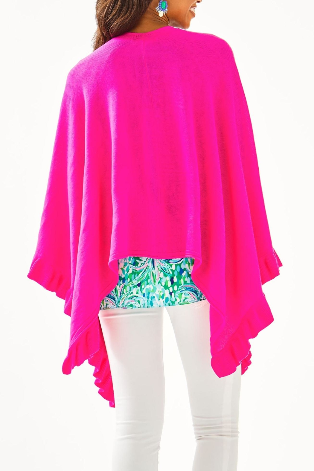 Lilly Pulitzer Rosaria Ruffle-Sweater Wrap - Front Full Image