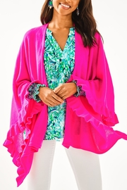 Lilly Pulitzer Rosaria Ruffle-Sweater Wrap - Front cropped