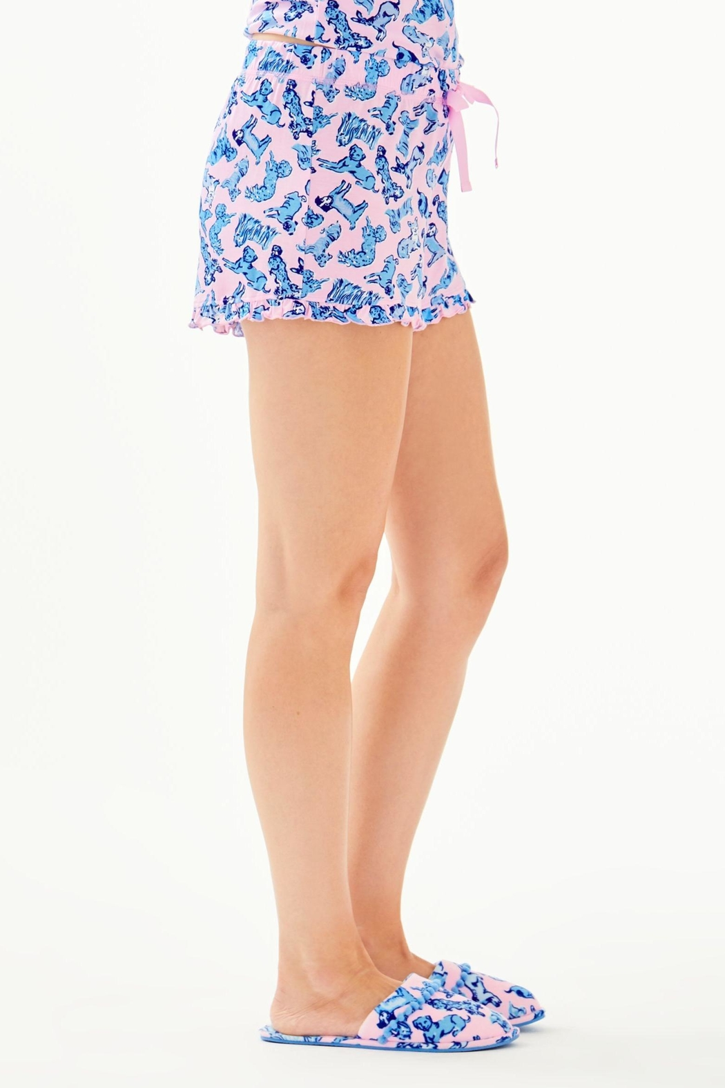 Lilly Pulitzer Ruffle Pj Short - Side Cropped Image