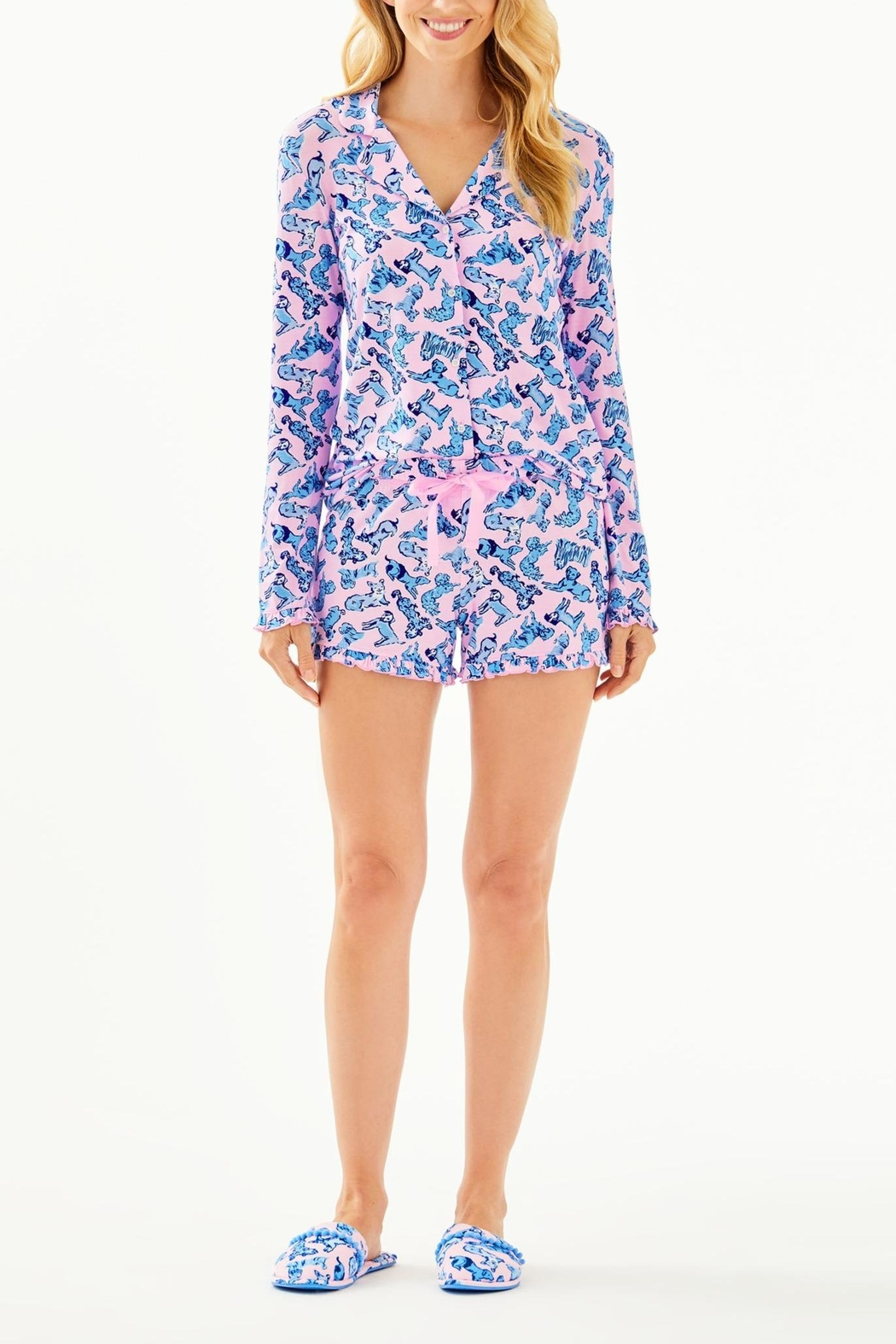 Lilly Pulitzer Ruffle Pj Short - Back Cropped Image