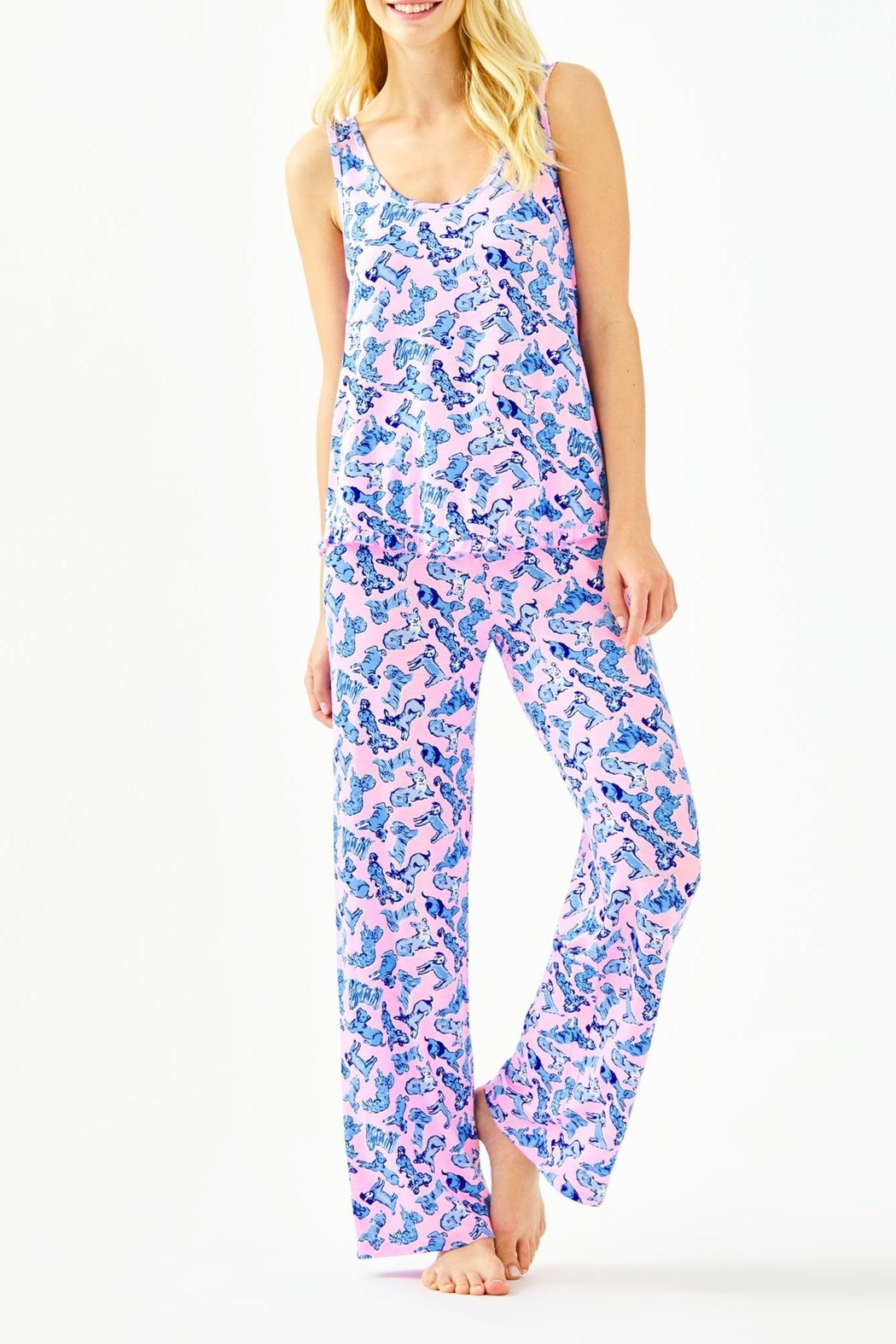 Lilly Pulitzer Ruffle Pj Tank-Top - Side Cropped Image