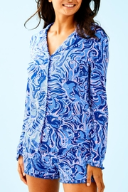 Lilly Pulitzer Ruffle Pj Top - Product Mini Image