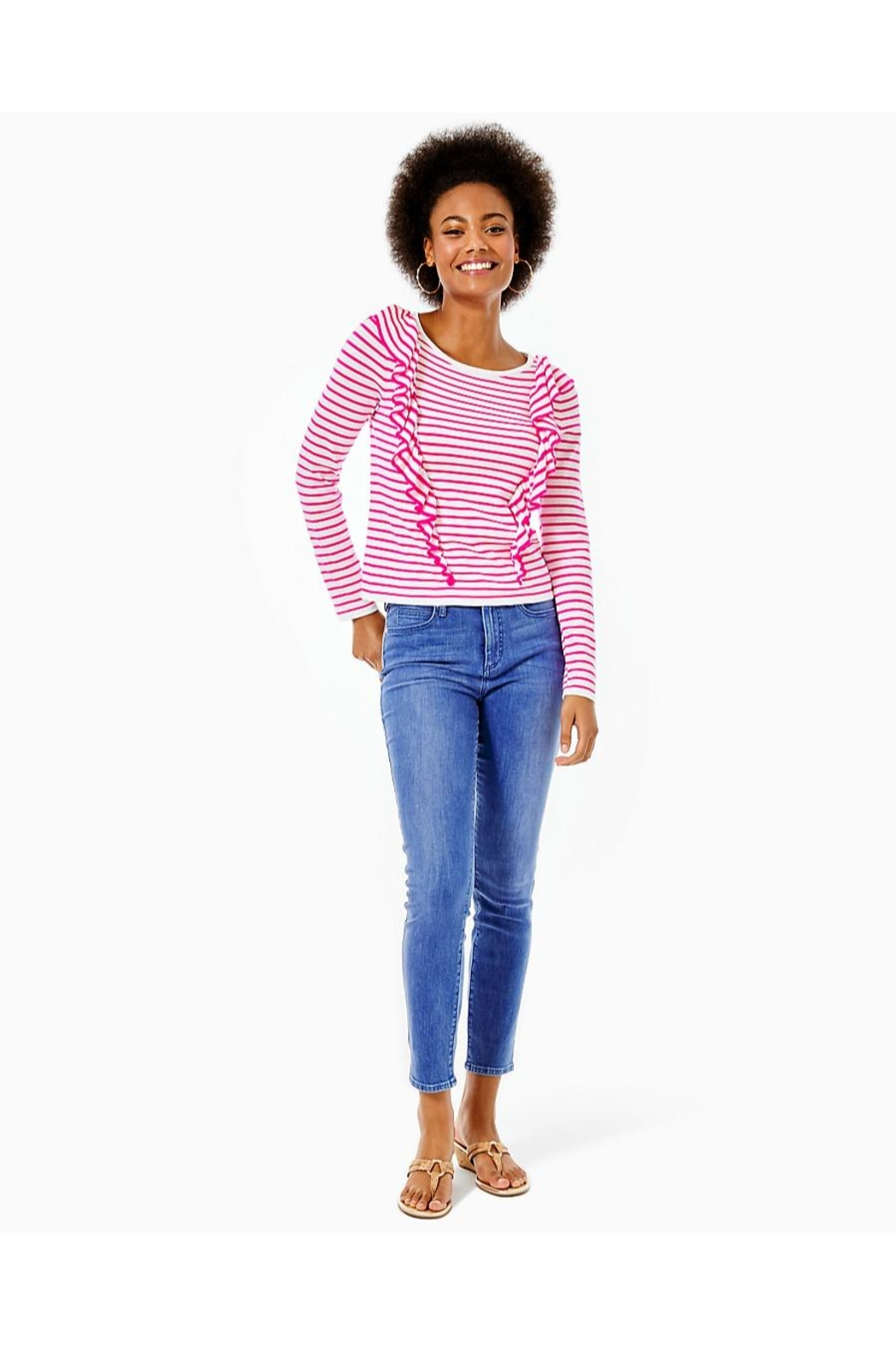 Lilly Pulitzer Ruth Striped Sweater - Back Cropped Image