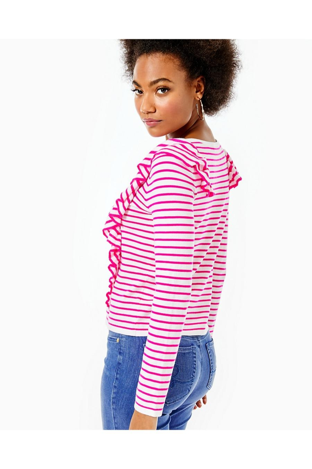 Lilly Pulitzer Ruth Striped Sweater - Side Cropped Image