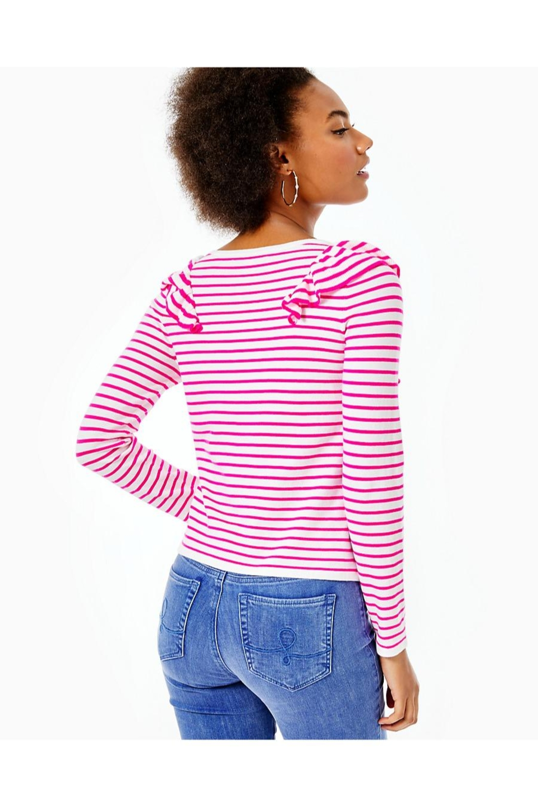 Lilly Pulitzer Ruth Striped Sweater - Front Full Image