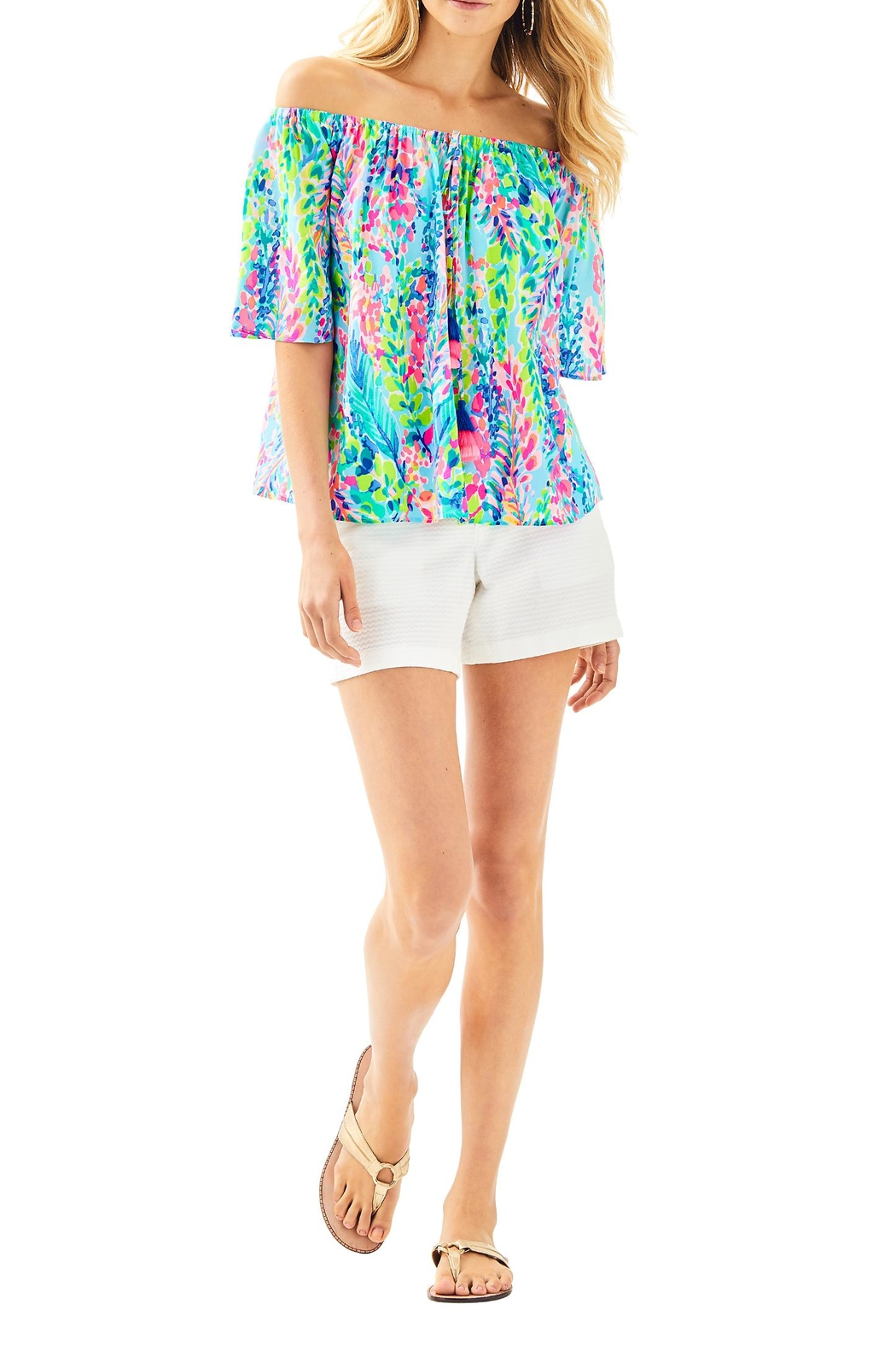 Lilly Pulitzer Sain Top - Side Cropped Image