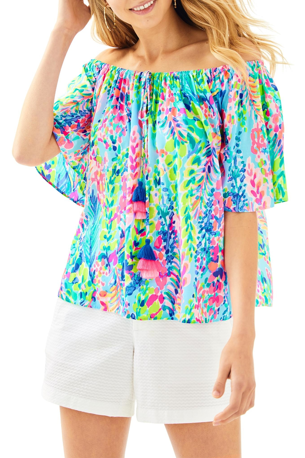 Lilly Pulitzer Sain Top - Front Cropped Image