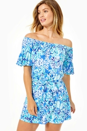 Lilly Pulitzer Samia Off-The-Shoulder Romper - Product Mini Image