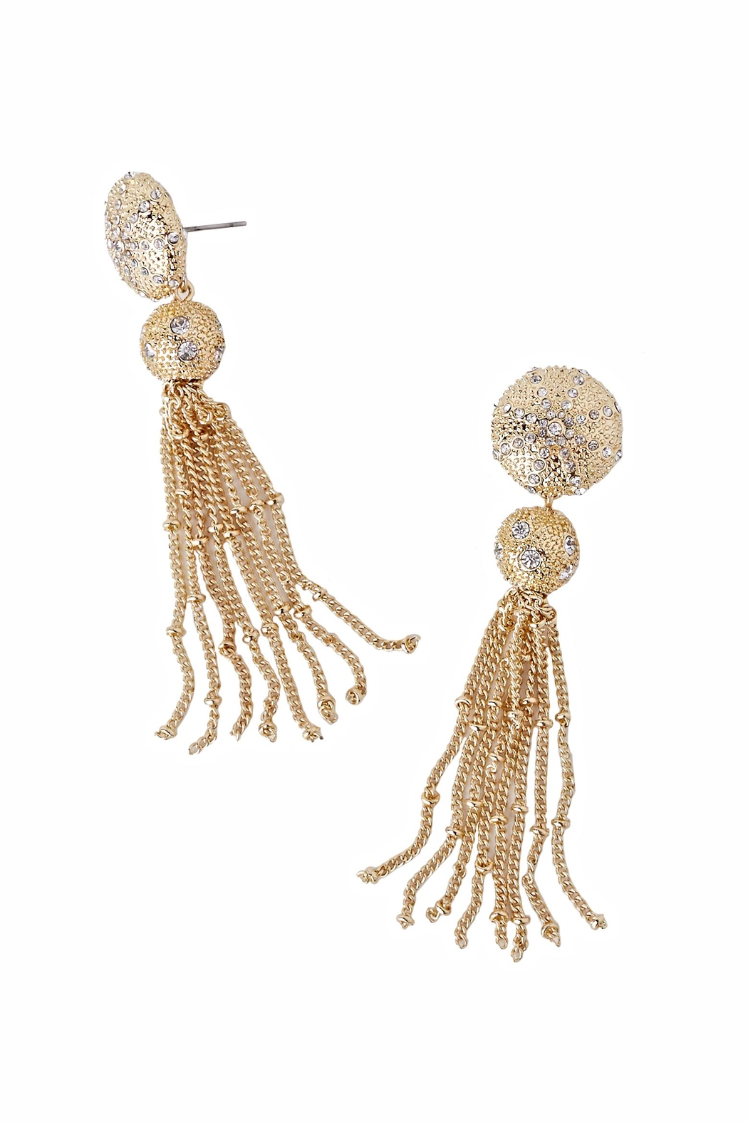 Lilly Pulitzer Sanddune Tassel Earrings - Front Cropped Image