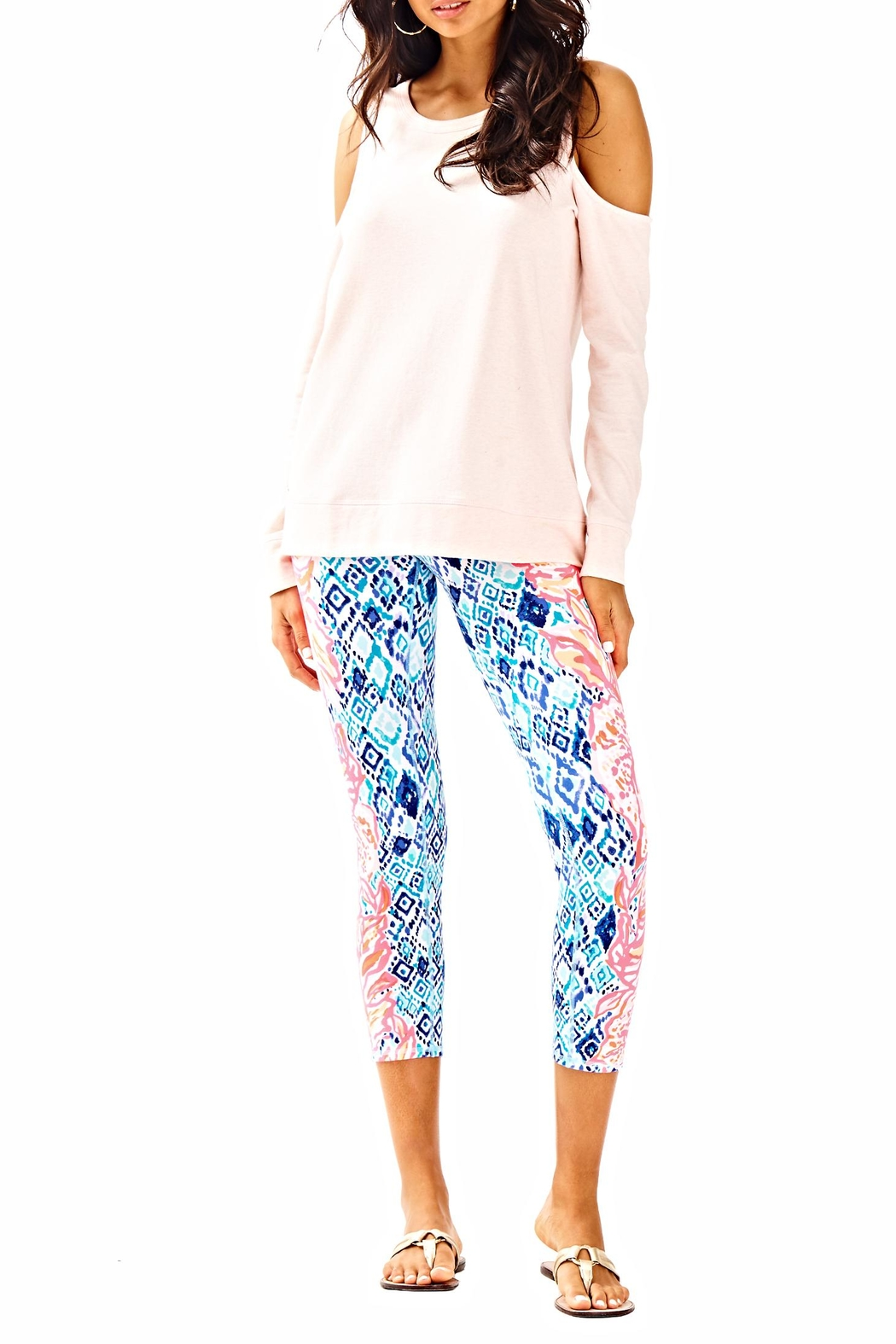 Lilly Pulitzer Sandy Pullover Top - Side Cropped Image
