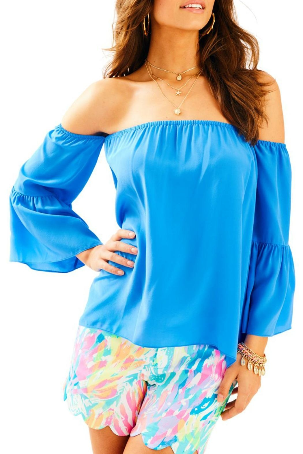 Lilly Pulitzer Sanilla Silk Top - Front Cropped Image