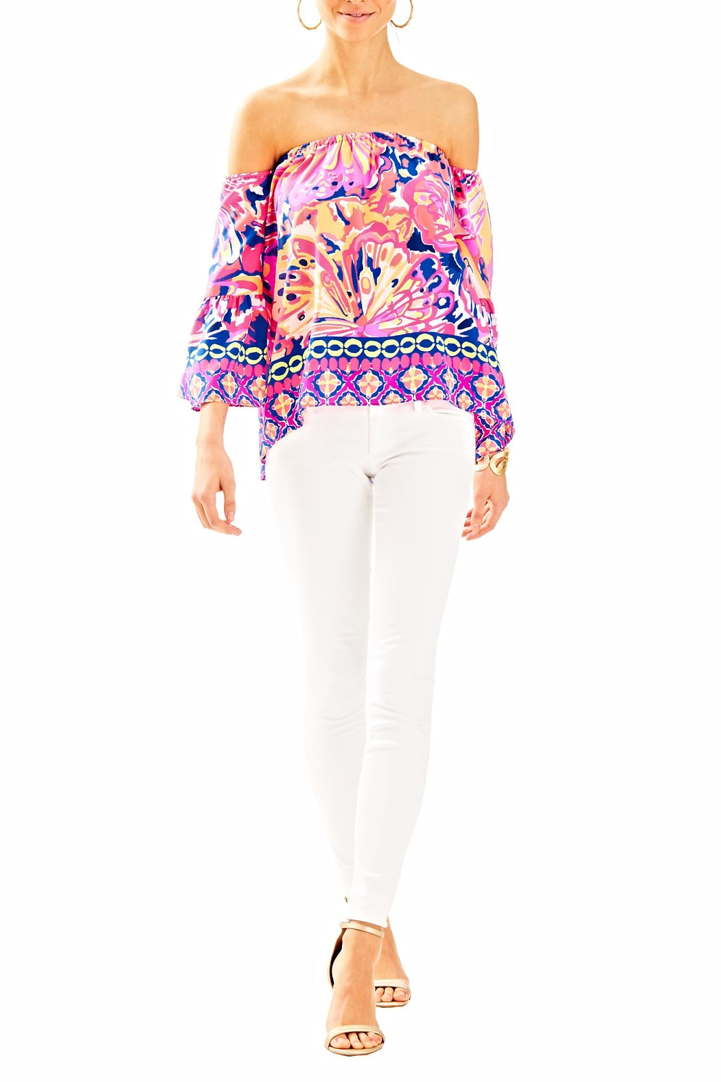 Lilly Pulitzer Sanilla Off Shouler Top - Side Cropped Image