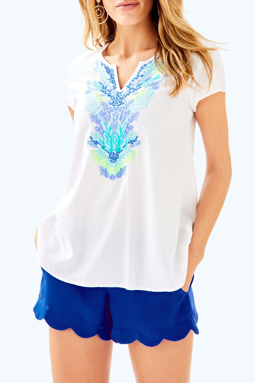 Lilly Pulitzer Sea Ave Top - Main Image
