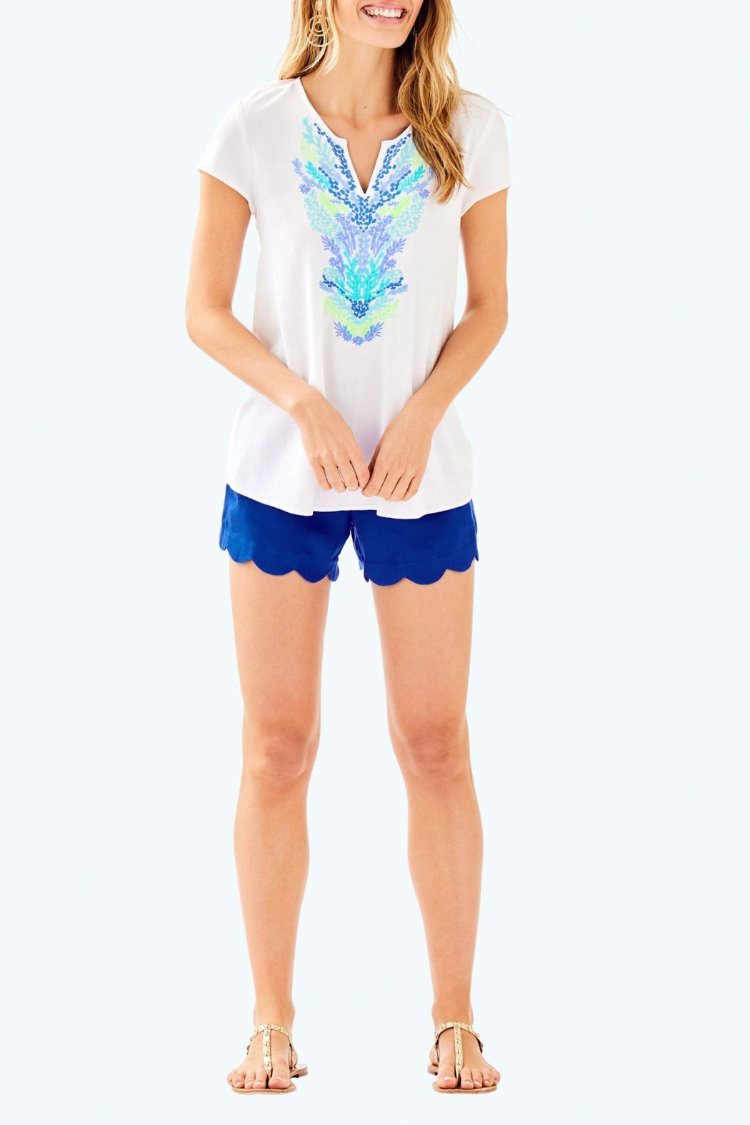 Lilly Pulitzer Sea Ave Top - Side Cropped Image